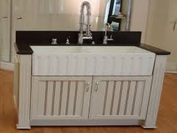 Apron Front Bathroom Vanity by White Farmhouse Sink Apron Sink White Cabinets Dark Counter Tops
