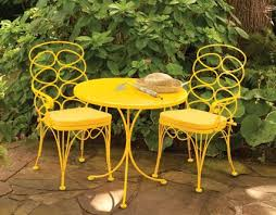 Yellow Bistro Chairs Gelati Bistro Set Table And Two Chairs New Charleston