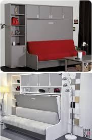 canapé lit armoire canapé lit escamotable distribué par gaindeplace fr rangement