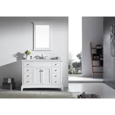 White Bathroom Vanity With Carrera Marble Top by Vinnova Gela 48 Inch White Single Vanity With Carrera White Marble