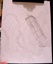 an commission tardis sketch by dezfezable on deviantart
