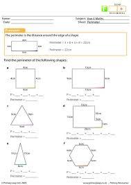 perimeter worksheet worksheets