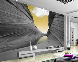 popular mountain wall murals buy cheap mountain wall murals lots beibehang custom wallpaper 3d aesthetic mountain sky modern abstract art wall murals living room bedroom wallpaper