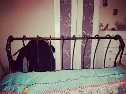 wrought iron double bed frame in crook county durham gumtree
