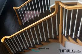 Oak Banister How To Gel Stain Ugly Oak Banisters
