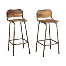 chaise de bar d licieux chaise de bar metal tabouret beraue industriel noir bois