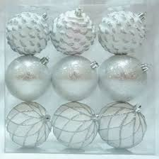time white silver shatterproof ornaments walmart canada