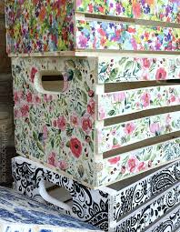 Diy Transfer Mueble Paso A Paso Decoupage Crates Framed Cork Boards And Drawer Shelves
