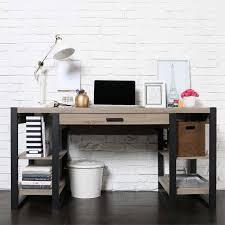 walker edison urban blend computer desk ash grey and black d60ubs30ag