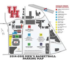 Amway Center Floor Plan Uhcougars Com Men U0027s Basketball Releases 2014 15 Parking Plan