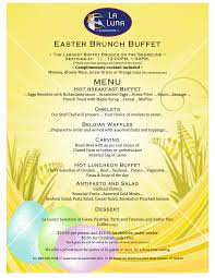 Easter Brunch Buffet by La Luna Ristorante New London Ct Caterer And Banquet Facility