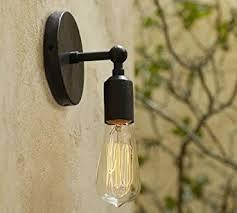 Retro Wall Sconces Perfectshow Minimalist 1 Light Wall Sconces Vintage Lodge Iron