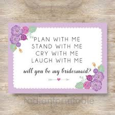 bridesmaid invitation card shop be my bridesmaid invitation cards on wanelo
