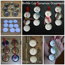 bottle cap snowman ornaments diy crafts christmas kids craft