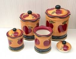apple canisters for the kitchen country kitchen canisters foter