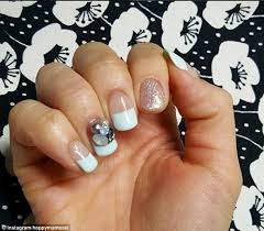 french manicure with one nail different u2013 great photo blog about