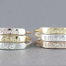 stacking name rings best stacking rings with names products on wanelo