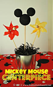 mickey mouse center pieces that s what che said mickey mouse centerpieces that s