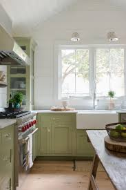 kitchen style contemporary farmhouse cottage green cabinets
