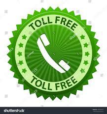 toll free green label icon symbol stock vector 150366755