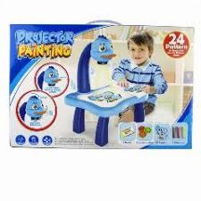 Drawing Desk Kids Baby Drawing Learning Desk Toy With Project Function Children