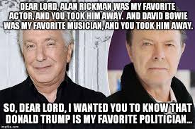 Bowie Meme - rickman and bowie imgflip