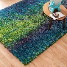 stella peacock and lime shag rug 5 u00272x7 u00277 free shipping today