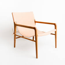 Leather Occasional Chairs The Smith Blush Leather Sling Chair Available At Www Barnabylane