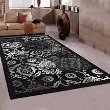 tappeti moderni bianchi e neri tappeti nero tessitura piatta per la casa ebay