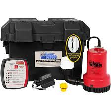 water powered backup sump pump shop basement watchdog 0 25 hp plastic battery powered sump pump