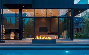 modern interior design rectangular outdoor fireplace paloform robata
