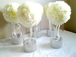 elegant silver wedding centerpieces blue silver white candles