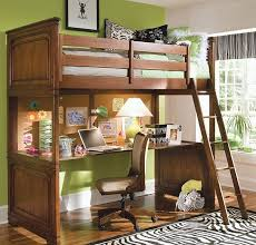 wooden loft bunk bed with desk loft bunk bed and floating desk below with wooden platform frame and
