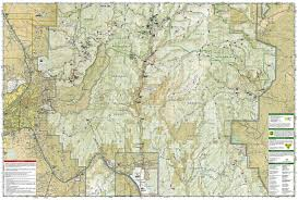 Taos New Mexico Map by Santa Fe Truchas Peak National Geographic Trails Illustrated Map