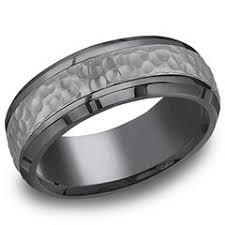 mens hammered wedding bands men s rings