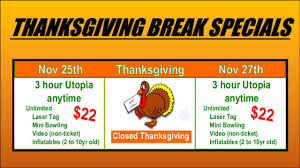 thanksgiving deals badger sports park