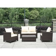 Resin Patio Furniture by 12pc Brown Beige Resin Wicker Set Outdoor Patio Furniture Home