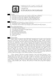 cara membuat laporan praktikum elektronika rangkaian filter pasif laboratorium elektronika dan instrumentasi