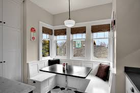bright breakfast nooks in dining room traditional with breakfast
