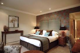 awesome blue brown wood glass luxury design cool bedroom