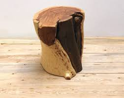 Tree Stump Nightstand Real Wood Works By Realwoodworks1 On Etsy