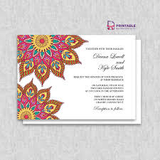 free printable pdf mandala wedding invitation wedding