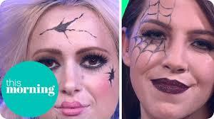 Glamorous Halloween Makeup Halloween Make Up Tutorial Broken Doll And Glamorous Guest