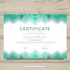 diploma template with abstract design vector free download