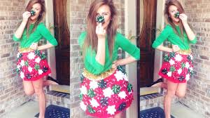 Christmas Sweater Party Ideas - diy christmas bow skirt for ugly christmas sweater party