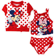 Minnie Mouse Clothes For Toddlers Minnie Mouse Toddler Girls Swimwear Set