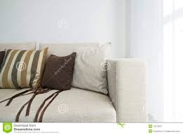 Modern Beige Sofa by Detail Of A Modern Beige Sofa With Cushions Royalty Free Stock