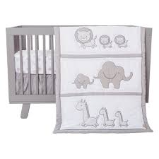 Black And White Crib Bedding Set Trend Lab Safari Chevron 3 Crib Bedding Set Black White