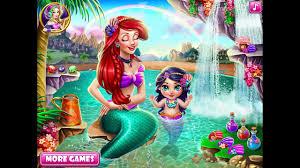 baby disney princess cartoon ariel baby bath the little