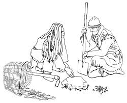 squanto thanksgiving coloring page squanto shows a pilgrim how